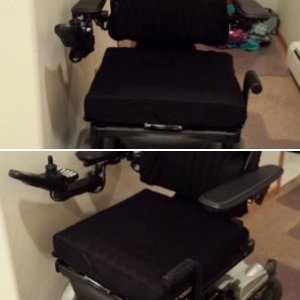 Backup wheelchair outfitted with new items