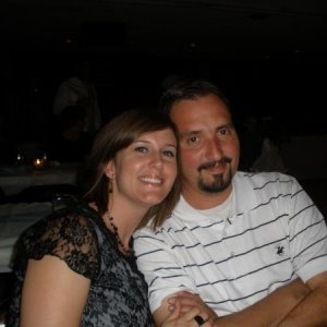 My husband Mike and me