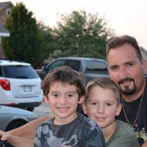 My husband with our 2 oldest boys.