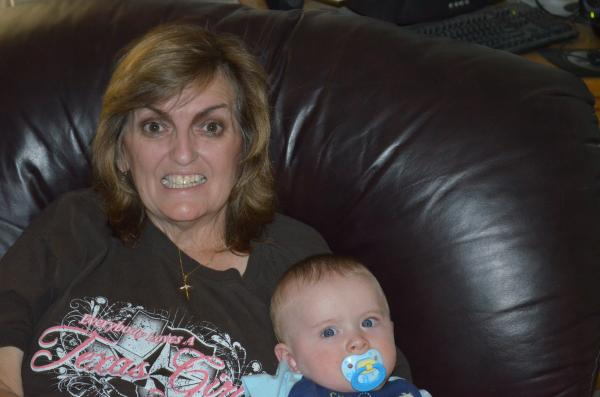 Mom holding Colin (my youngest of 3 boys)