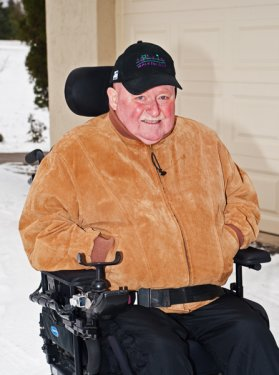 Al Pettit in his wheelchair