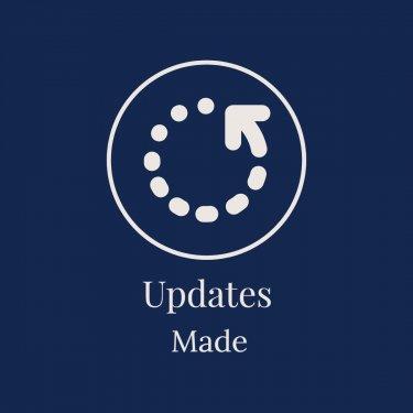 Updates made